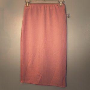 NY Invasion pencil blush pink Sz M skirt